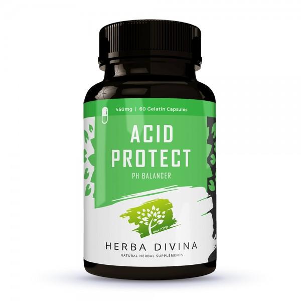 Herba Divina Acid Protect - хранителна добавка в подкрепа на алкално-киселинния баланс - 60 капсули