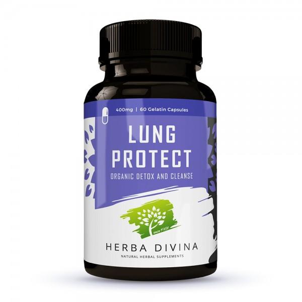 Herba Divina Lung Protect - хранителна добавка в подкрепа на белите дробове и дихателните пътища - 60 капсули