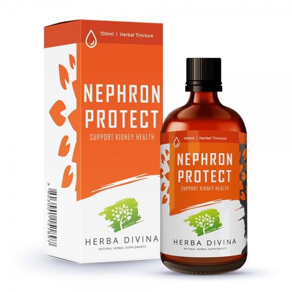 Herba Divina Nephron Protect - хранителна добавка в подкрепа на бъбречната функция - тинктура 100 мл