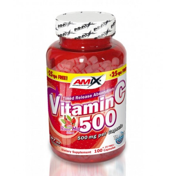 AMIX Vitamin C /with Rose Hips/ 500mg