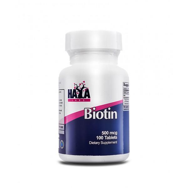 HAYA LABS Biotin 500mg Tabs.