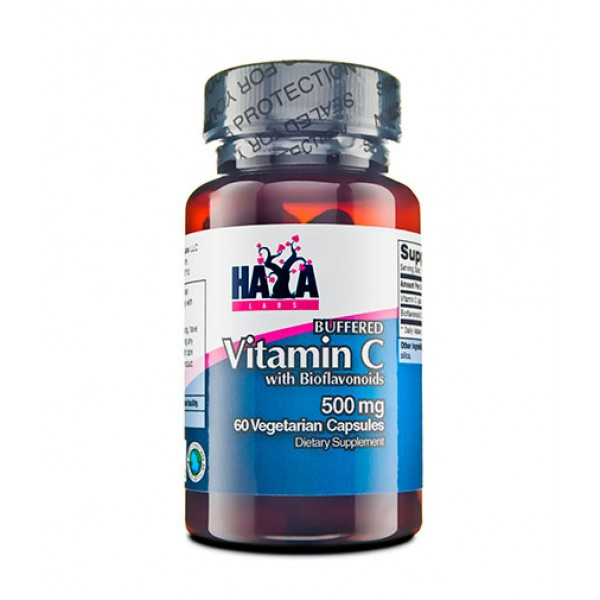 HAYA LABS Buffered Vitamin C 500mg with Bioflavonoids