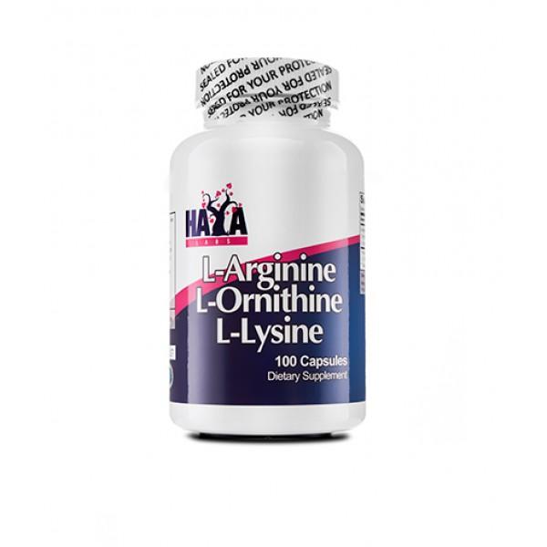 HAYA LABS L-Arginine / L-Ornithine / L-Lysine