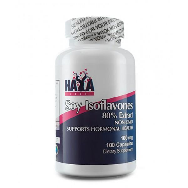 HAYA LABS Soy Isoflavones 80% Extract NON-GMO 100mg