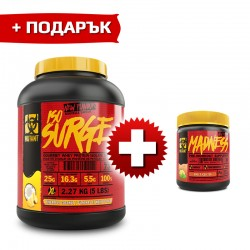 Mutant ISO SURGE - 2.270 кг + Mutant Madness - 0.225кг. (FREE) ПРОМО СТАК