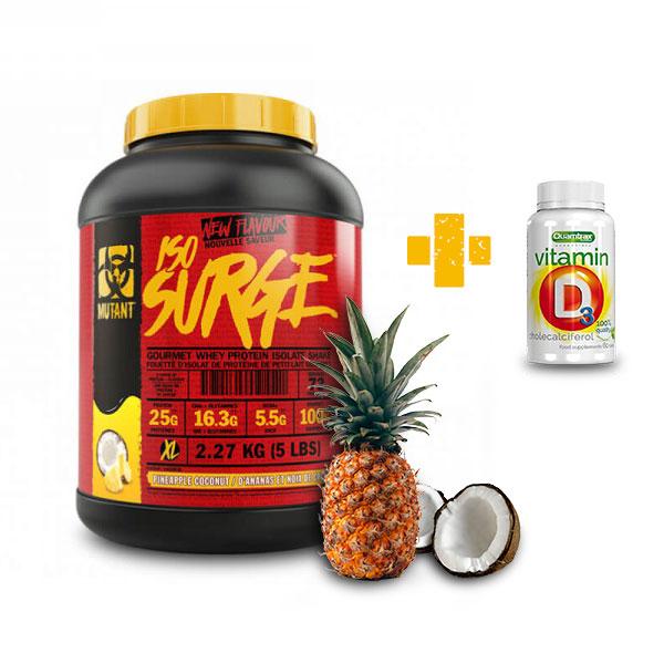 Mutant ISO SURGE Pineapple Coconut - 2.270 кг. + QUAMTRAX Vitamin D3