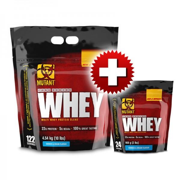 Mutant Whey 4.540 кг + Mutant Whey 0.908кг (FREE) ПРОМО СТАК