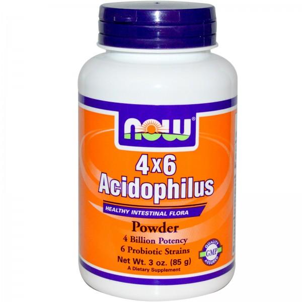 NOW FOODS Acidophilus 4 X 6 Powder