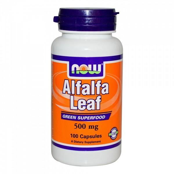 NOW FOODS Alfalfa Leaf  500 mg