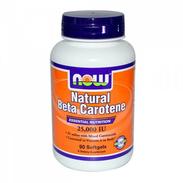 NOW FOODS Beta Carotene Natural 25000 IU