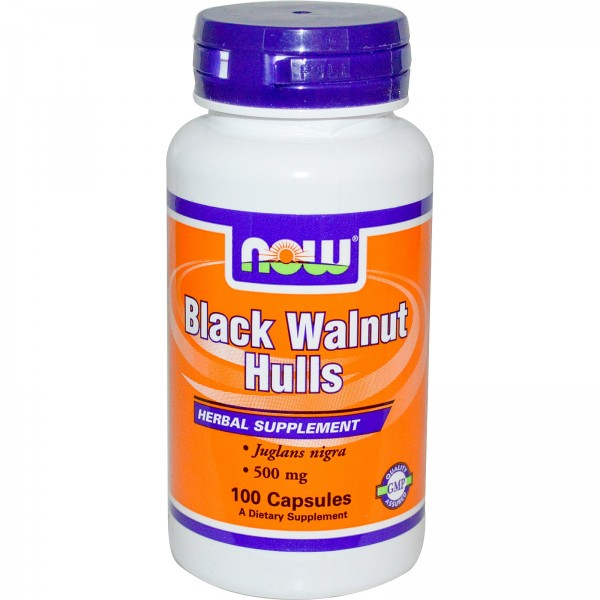 NOW FOODS Black Wallnut Hulls 500 mg
