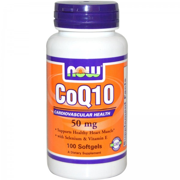 NOW FOODS CoQ10 50 mg + Vitamin Е