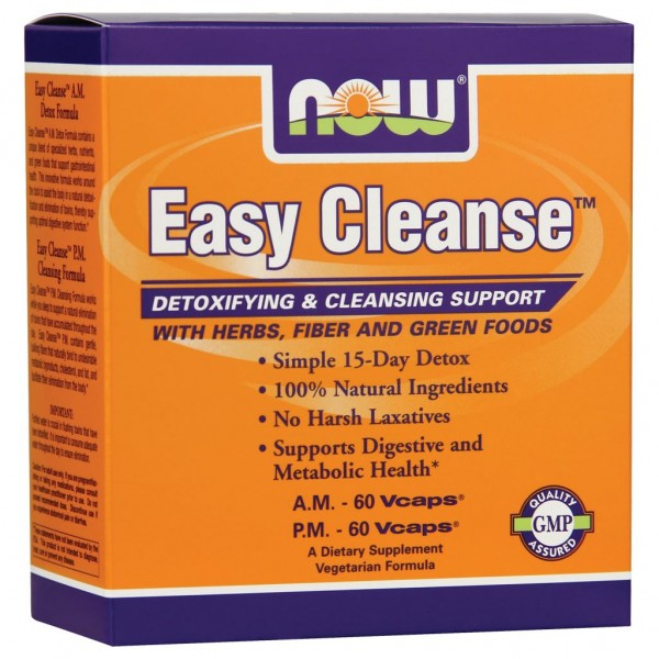 NOW FOODS Easy Cleanse Kit - AM 60 caps / PM 60 caps