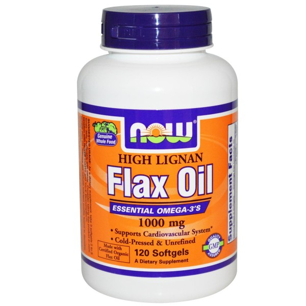 NOW FOODS Flax Oil (High Lignan) 1000 mg