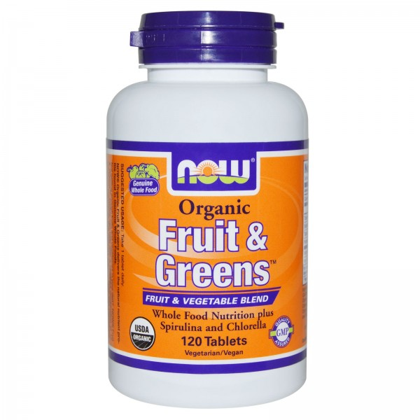 NOW FOODS Fruit & Greens Organic 1000 mg
