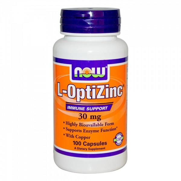 NOW FOODS L-OptiZinc 30 mg