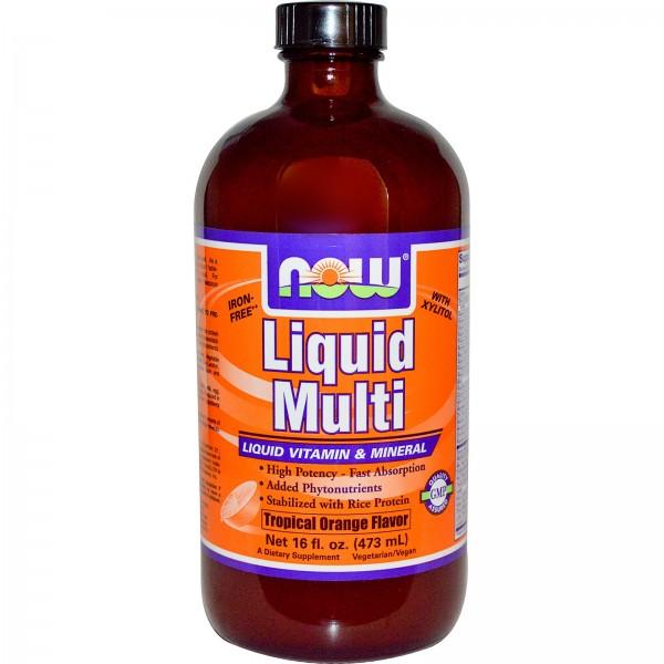 NOW FOODS Liquid Multi Orange