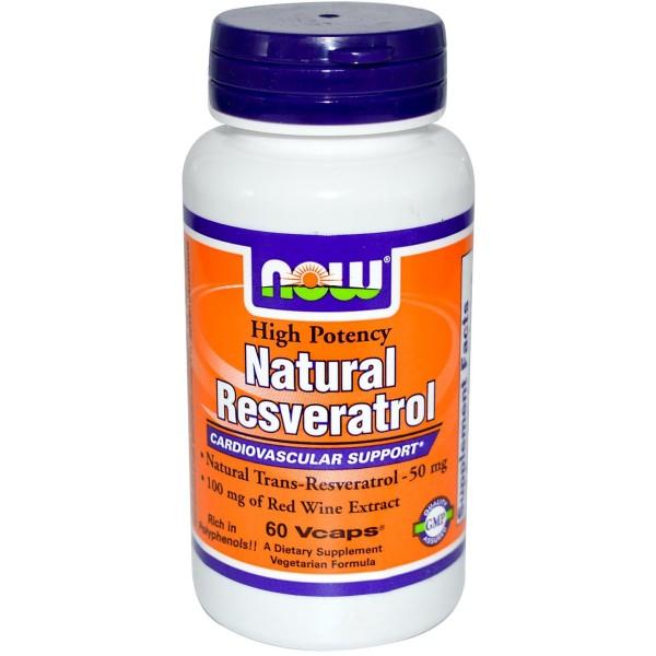 NOW FOODS Natural Resveratrol 50 mg