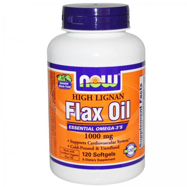 NOW FOODS Flax Oil Organic 1000 mg