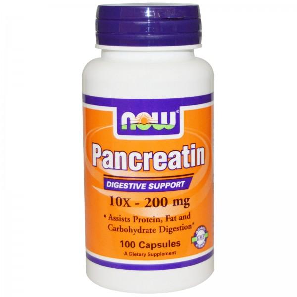 NOW FOODS Pancreatin 10X 200 mg
