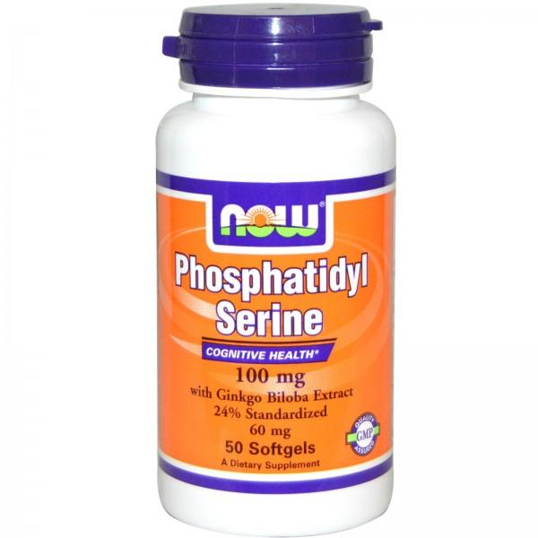 NOW FOODS Phosphatidyl Serine 100 mg  Ginkgo