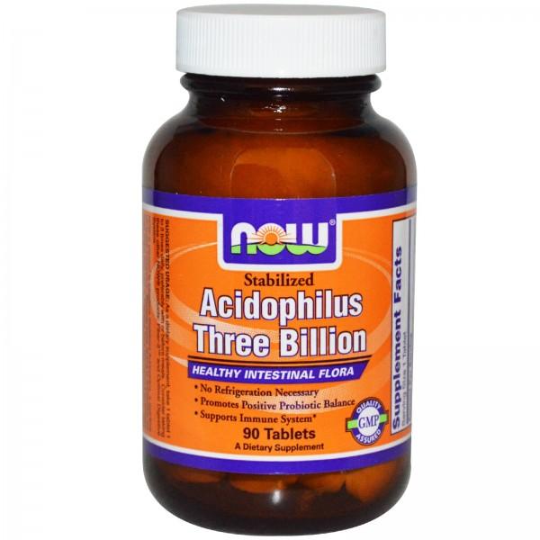 NOW FOODS Stabilized Acidophilus Three Billion