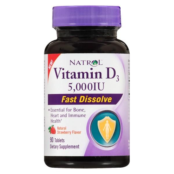 NATROL Vitamin D3 2,000 IU Fast Dissolve